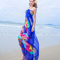 Women Beach Sarongs Chiffon Swimsuit Cover Up