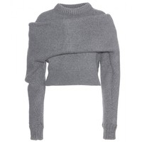 balenciaga - wool and angora knit sweater