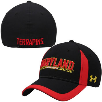 Maryland Terrapins Under Armour 2014 Sideline Touchback Performance Flex Hat – Black