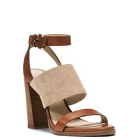 Rigby Suede and Vachetta Sandal | Michael Kors