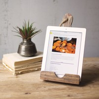 Wooden Cutting Board I-Pad Holder