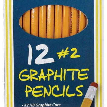 Sargent Art 12 Count Graphite Pencil Yellow