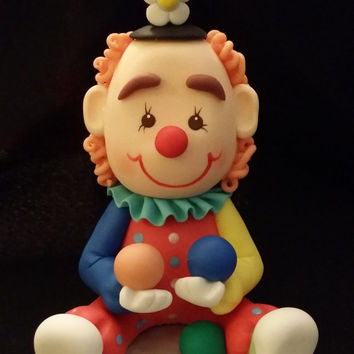 Circus Birthday, Circus Cake Topper, Circus Clown Cake Topper, Circus Party Decoaration, Circus Clown Birthday Decoration, Circus Decoration