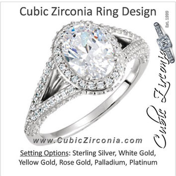 Cubic Zirconia Engagement Ring- The Meredyth