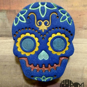 Sweet *SUGAR SKULL* Bubble Bars, Solid Bubble Bath, Day of the Dead! Raspberry Lemonade! Great Gift!
