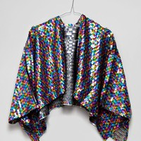 ASOS Multi Colour Sequin Festival Cape at asos.com