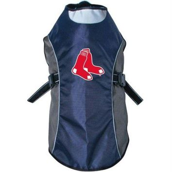 ONETOW Boston Red Sox Water Resistant Reflective Pet Jacket