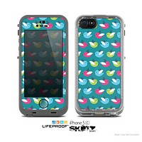 The Vibrant Colored Vector Bird Collage Skin for the Apple iPhone 5c LifeProof Case