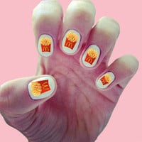 McDonalds French Fries Nail Decals / Nail Art / Nail Design