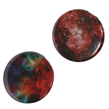Galaxy Pin Buttons, 2 inch Pinback Buttons