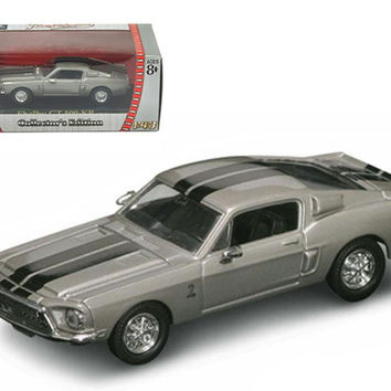 1968 Shelby GT 500 KR Silver 1-43 Diecast Car by Road Signature