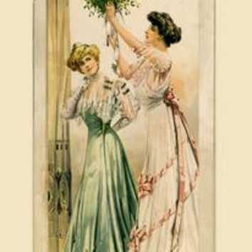 Hanging the Bouquet: Fine art canvas print (12 x 18)
