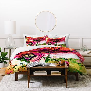 Ginette Fine Art Crazy Wildflowers Duvet Cover