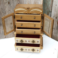 Vintage Armoire Style Jewelry Box, Vintage Jewelry Box, Gift for Her
