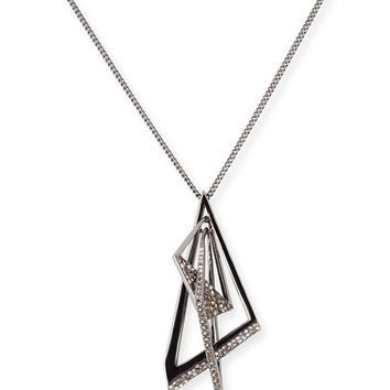 Alexis Bittar Crystal Origami Mobile Pendant Necklace