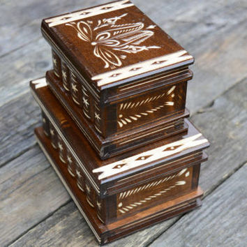 Hungarian secret compartment puzzle box set DeluxEdition jewelry box brain teaser treasure box treasure chest keepsake box personalized gift