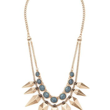 Spike Layered Statement Necklace