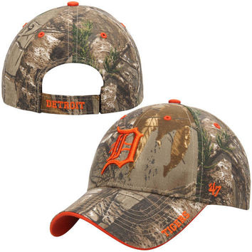 MLB Detroit Tigers Real Tree Camo Frost MVP Hat