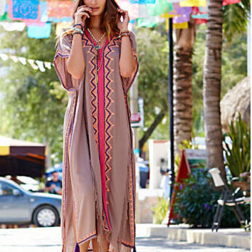 Women's Fashion Embroidery Ankle One Piece Dress [6339015425]
