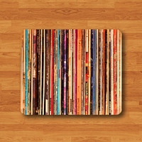 Vintage Music Label Recorded Mouse Pad Antique Song Collection MousePad Desk Deco Photography Work Pad Mat Rectangle Personal Christmas Gift
