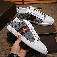 Gucci Trending Women Man Casual Stylish Flat Sport Shoes Sneakers Grey I