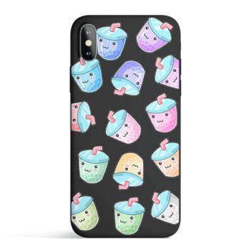 Kawaii Boba - Colored Candy Cases Matte TPU iPhone Cover