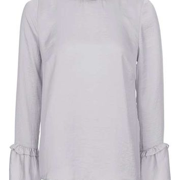 Frill Neck Satin Top - New In This Week - New In