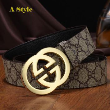 Alloy Gucci Belt For Men Double G Buckle With Gucci Fashion
