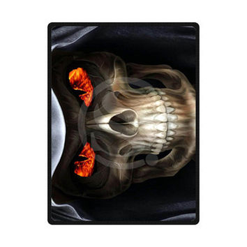 TIP-UF323150 new arrival Custom suger skull Home Decoration Bedroom Supplies Soft Blanket size 58x80,50X60,40X50inch F11