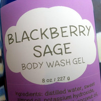 Blackberry Sage Body Wash Gel ~ Shower Gel ~ Liquid Body Soap ~ Body Shampoo