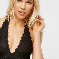 Free People Galloon Lace Halter - Black