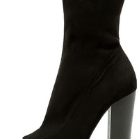 Best Bet Black Suede Peep-Toe Booties