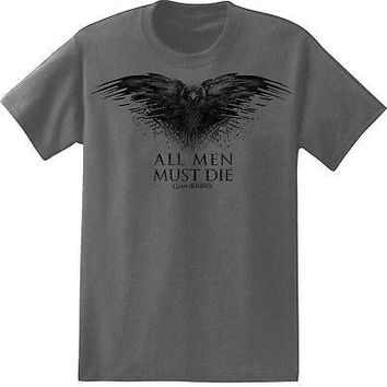 Game of Thrones All Men Must Die Raven Officially Licensed Men's T- Shirt