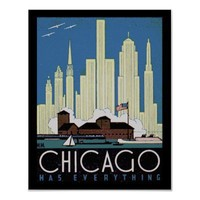 Vintage poster of chicago from Zazzle.com