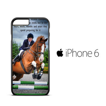 horse jumping photography Y2410 iPhone 6 Case