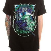 Escape The Fate Reaper Slim-Fit T-Shirt Size : Large