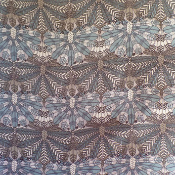 Liberty Art Fabrics Silk Chiffon Dakota in Blue per Half Yard