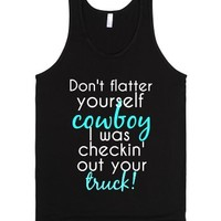 Ladies love trucks!-Unisex Black Tank