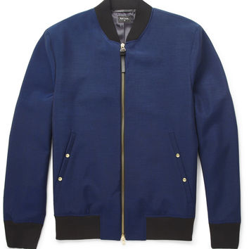 PS by Paul Smith - Lightweight Wool and Mohair-Blend Bomber Jacket | MR PORTER