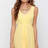 Black Swan Transparent Yellow Dress
