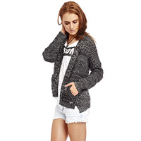 Black Knitted Cardigan - Q2 Store