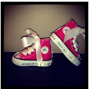Infant/Toddler/Youth Swarovski Customized Converse All Stars