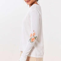 Truly Madly Deeply Placed Floral Thermal Tee - Urban Outfitters