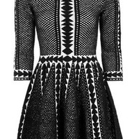 Premium Fit And Flare Sweater Dress - Monochrome