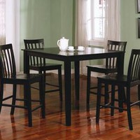 Ashland 5 Pieces Counter Height Dining Set in Black Finish 150231BLK