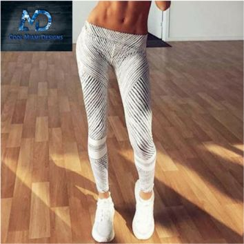 Cool Miami's New Design Autumn Black and White Strip Leggins