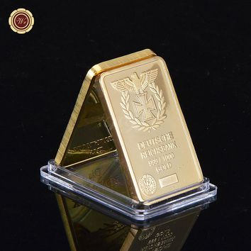 Deutsche Reichsbank Gold Plated Bullion Bar German Eagle Replica Gold Bar