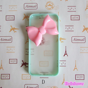 50% OFF,  Bow iPhone 5 case,Bow iPhone Case, Hard Plastic Iphone Case,iPhone 5 cover,iPhone 5 skin,Simple iPhone case, cute iphone case
