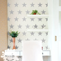 "Star Wall Decal / Large Star Wall Decal / 4"" Star Decal / Star Vinyl Sticker / Home Decor / Kids Room Wall Decal / Nursery Wall decal / gift"