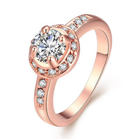 Micro-Insert Ring Rose Gold
